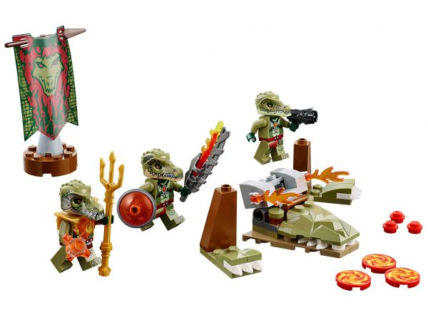 Lego 70231 Legends of Chima Лагерь клана Крокодилов