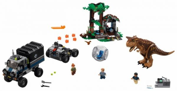 Lego 75929 Jurassic World Побег в гиросфере от карнотавра