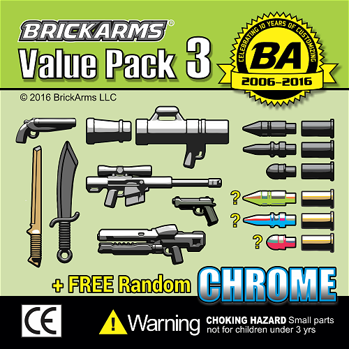 BrickArms bawk20-1 Value Pack 3