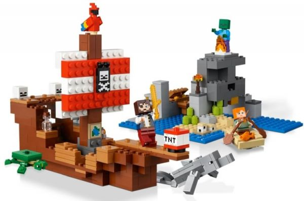 Lego 21152 Minecraft Приключения на пиратском корабле