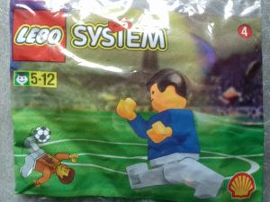 Lego 3305 Shell Promotional Set: Soccer: World Team Player Промо-набор компании Shell: Футболист